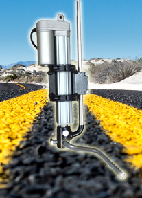 Electric Gun Raiser for Striping Trucks