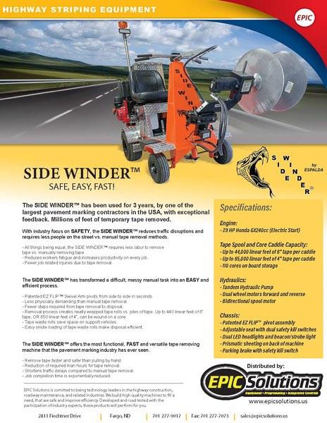 Side Winder Brochure Download